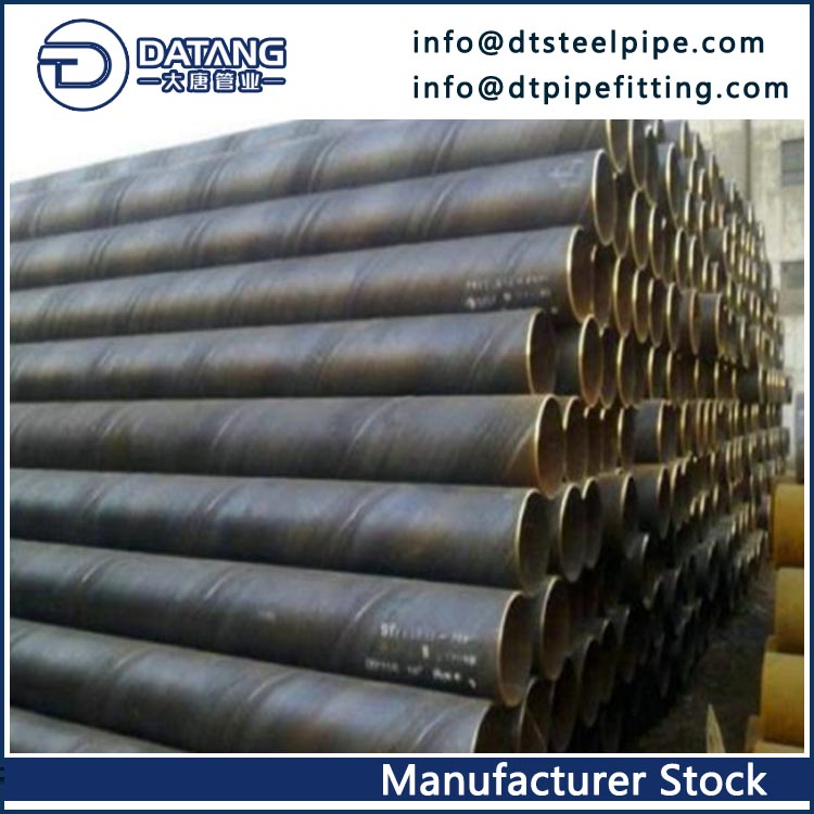 API 5L PSL1 X60 SSAW Steel Pipes, 24 Inch