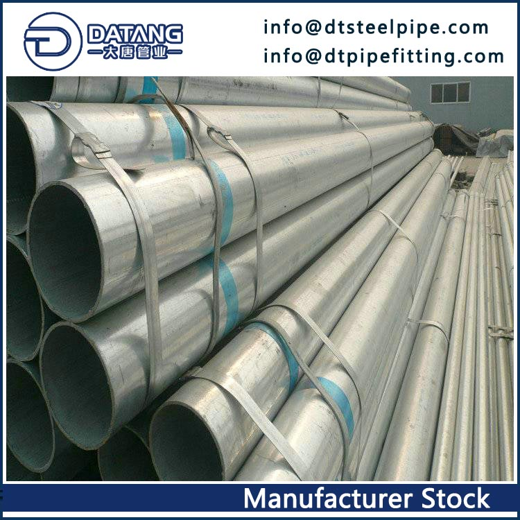 EN39 Hot-dip Galvanized Steel Pipe, OD 21